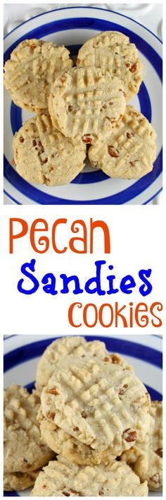 Pecan Sandies Cookies ~ Get the recipe at MissintheKitchen.com