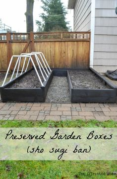 Garden boxes are awesome. They can also be expensive. Here's a mind blowing way to make them cheaper by preserving the wood through burning.