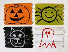 HALLOWEEN Puzzle or glue together with a soft fabric backing(ex: felt, flannel or fleece) to create coasters! Seal with modge podge to water proof.