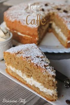 Coffee cake, soft and creamy recipe – Pastry World Italian Cake, Italian Desserts, Italian Recipes, Sweet Recipes, Cake Recipes, Dessert Recipes, Cakes Originales, Torte Cake, Pie Dessert