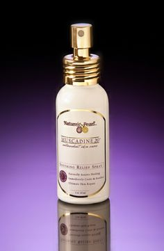 Soothing Relief Spray:  Botanically infused relief spray that cools and relieves troubled skin.  Great for use on wounds, abrasions, cuts and burns.