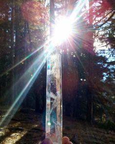 Quartz Crystal ~Blessed In Seven Sacred Rays and Mount Shasta Vortex DIVINE LIGHT~High Vibration for Transformation and Creating ABUNDANCE~ by SacredSpiritAluria on Etsy Clear Quartz, Quartz Crystal, Crystal Healing, Mount Shasta, Divine Light, Shop Lighting, 3d Printing, Blessed, Abundance