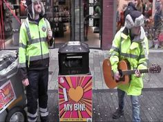 Belfast City Council's singing street sweepers. We do things differently here in NI...