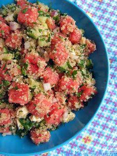 Feta Watermelon Quinoa Salad