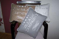 Mars & More Lounge Kissen inkl.Füllung 3 Varianten Stickerei Landhaus Vintage