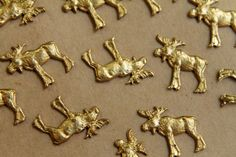 2 pc. Raw Brass Moose Stampings: 19mm by 20mm  made by BrassKicker