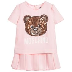 029a35de21e7 Moschino Baby - Girls Pink Pleated Dress