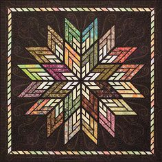 Fractured Star quilt made by Mary Plas, pattern by Quiltworx, machine quilted by Kathleen Crabtree. Star Quilt Patterns, Paper Piecing Patterns, Quilting Projects, Quilting Designs, Quilting Ideas, Modern Quilt Blocks, Lone Star Quilt, Bargello Quilts, Quilt Modernen