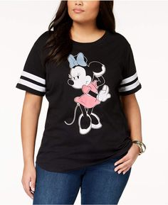 72d4fd5afbea4 Hybrid Plus Size Minnie Mouse Graphic T-Shirt Plus Size T Shirts