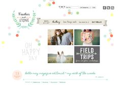 Love the little glasses by the search bar! Also love the sporadic polka dots and colors!