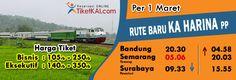 Jadwal baru KA Harina Bandung-Semarang-Surabaya PP