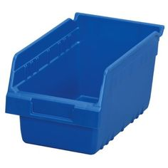 Akro-Mils 30090 ShelfMax Plastic Nesting Shelf Bin Box, 12-Inch Length x 6-Inch Width x 6-Inch Height, Case of 10, Blue by Akro-Mils. Save 17 Off!. $42.74. From the Manufacturer                Go Deep! Maximize your storage capacity with 6-Inch 30090 ShelfMax bins. Shelf Bins outlast corrugated bins - paying for themselves in reduced replacement costs. The superior construction of Shelf Bins allows them to be fully loaded without bulging or cracking. Durable polypropylene bins also provide…
