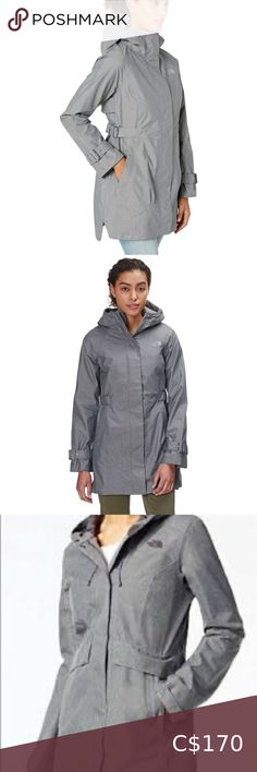 NWT 4 Season Coat North Face Trench Jacket The North Face City Breeze Rain Trench Jacket features: a line silhouette with an angled side slit and drop tail hem. 4 SEASON COAT 2-layer Dryvent® Fully sealed seams WATERPROOF & BREATHABLE Adjustable hood Snap and zip closure at front placket Adjustable side tabs with buckles fine-tune the fit Zippered hand pockets Dropped split hem The cuffs and hood can both cinch down from the chill, this coat is a 4 season coat can be layered over top fleece… North Face Arctic Parka, North Face Vest, North Face Rain Jacket, North Face Women, The North Face, North Face Windbreaker, Windbreaker Jacket, Trench Jacket, Plaid Jacket