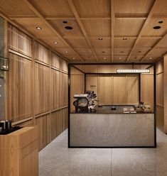 Cafe Bar, Cafe Restaurant, Restaurant Design, Japan Interior, Cafe Interior, Hotel Interiors, Wood Interiors, Wood Cafe, Timber Ceiling