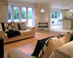 White Kitchen Open Living Room open plan living roomlynn morgan with dueling white sofas with