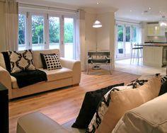 Contemporary Modern Open Plan Kitchen Living Room