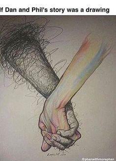 i like that for me i can see the hands as either of them. dan can be colorful too and phil can be dark too