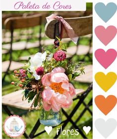 paleta de cores para decoração de casamento