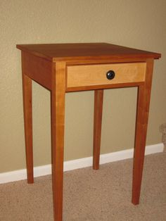 Items Similar To Hepplewhite Cherry End Table With Single Drawer On Etsy
