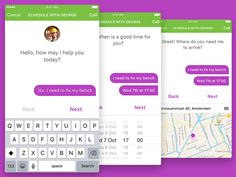Chat Bot Concept App by Yaron Tamuz May I Help You, Do You Need, User Experience Design, App Design, Design Ideas, Chat App, User Interface Design, Design Thinking, Concept