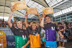 Die strahlenden Sieger der Grommets: Simon Bitterlich, Noah Beschen und Moritz Wienecke