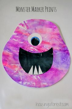 Monster Marker Prints ~ Coffee Filters and marker Art.  Perfect Halloween Craft