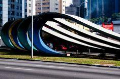 Monumento 80 anos da Imigração - artista Tomie Ohtake Tomie Ohtake, Hercules, Painters, Japanese, Abstract, City, Brazil, Arquitetura, Sculptures