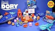 New Finding Dory Disney,Pixar Bath Toy I Swim Dory & Hank Wind Up Unboxi...