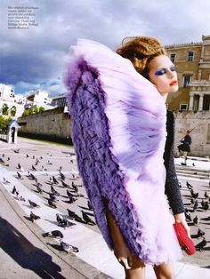 Vogue Hellas March 2010. Viktor & Rolf sculpted, sheared-off tulle collection. Great shot.