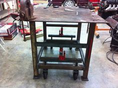 Vise and Grinder stands. I'm looking for ideas on how to use several in limited space - The Garage Journal Board