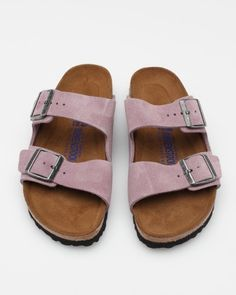 Sandals : pink birks! - #Sandals https://talkfashion.net/shoes/sandals/sandals-pink-birks/