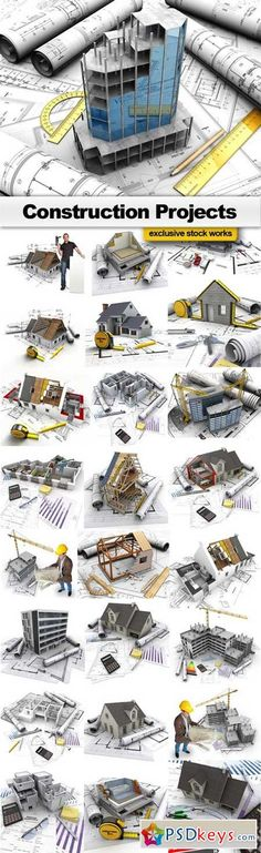 Construction projects and technical drawings  63 MB