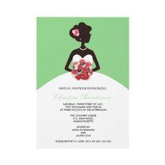 Modern Green Bridal Shower Invitation by Eternalflame