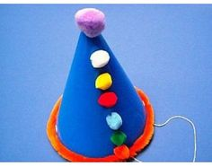 Make a Pom Pom Clown Party Hat