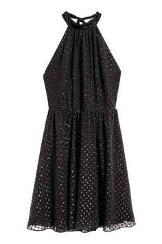 Chiffon halterneck dress