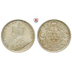 Indien, Britisch-Indien, George V., 2 Annas 1916, f.st: George V. 1910-1936. 2 Annas 1916 Kalkutta. KM 515; fast stempelfrisch,… #coins