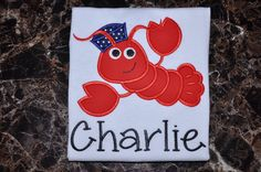 Sailor Lobster Applique Kids Shirt  Kids by TCPassionateStitches, $20.00