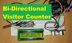 Bi-Directional Visitor Counter using single ultrasonic sensor with LCD