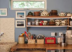 Romantic cottage kitchen
