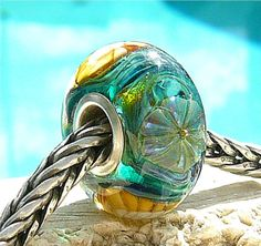 SEASHELL SCALLOP OPAL Fully Lined Sterling by beachlifebeads, $28.00