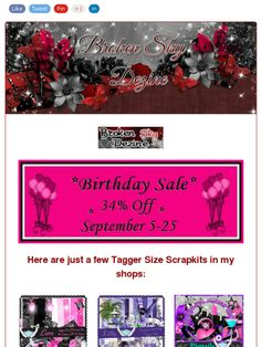 Ad:B-Day Sale All Month - 34% Off of All My Scrapkits & CU Products from Broken Sky Dezine!https://madmimi.com/s/8de573