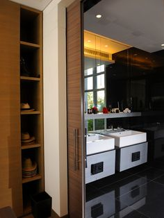 Pocket doors will infuse an average space with architectural charm and can be great space savers — but they have their downsides, too. Here's some coverage of both sides to help you decide if pocket doors are right for your new house or remodel. Sliding Barn Door Hardware, Door Design, Trendy Bathroom, Bathroom Design, Exterior Barn Doors, Pocket Door Handles, Diy Flooring, Modern Door, Pocket Doors