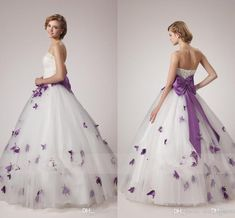 77+ Purple and White Wedding Dresses - Women's Dresses for Wedding Guest Check more at http://svesty.com/purple-and-white-wedding-dresses/