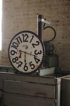 antique reproduction hotel clock   $129.00