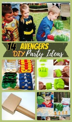 14 Avengers Birthday Party Ideas for Superhero Lovers. Avengers Birthday cakes, games and activities for kids and DIY Avengers theme ideas
