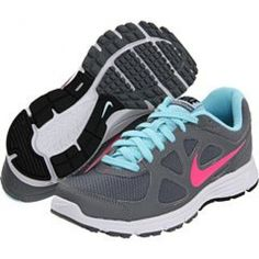 cba9f1f9b13 Nike Revolution Metallic Cool Grey Seashell Blue Cool Grey Pink Workout  Attire