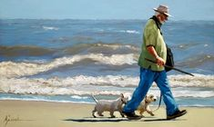"""Karin Jurick ~ """"Pack Man""""  ~  a leader and his pack walking the beach on hilton head island the morning after hurricane sandy had passed. #westie"""
