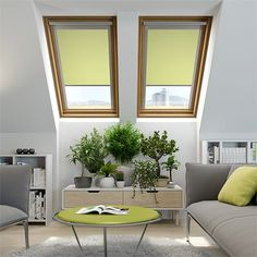 Expressions Shadow Lime Blackout Blind for VELUX ® Windows