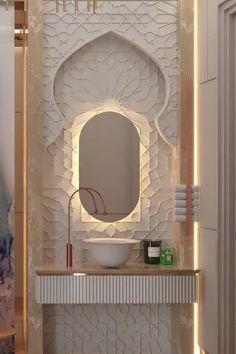 Large Bathroom Interior, Interior Design Living Room, Modern Bathroom Tile, Arabic Decor, House Outside Design, Luxury Homes Interior, Modern House Design, Exterior Design, Designers