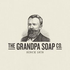 Vintage-inspired logo for The Grandpa Soap Company. brand gets refreshed. etching, printing, effect. Branding and package design for natural, quality soaps. People Illustrations, Logo Style, Cross Hatching, Scratchboard, Soap Company, Bag Design, Package Design, Vodka, Vintage Inspired